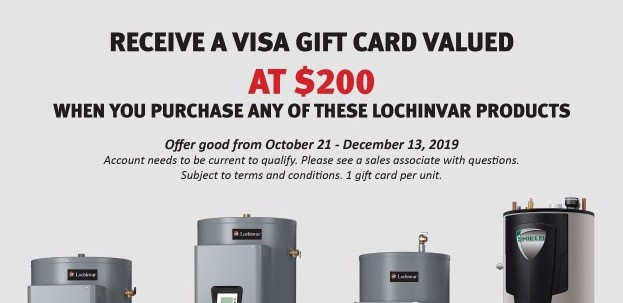 Arizona Climate Supply - Lochinvar $200 Rebate