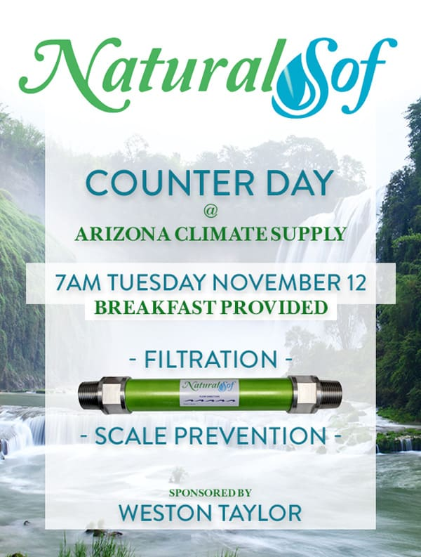 NatureSof Counter Day at Arizona Climate Supply