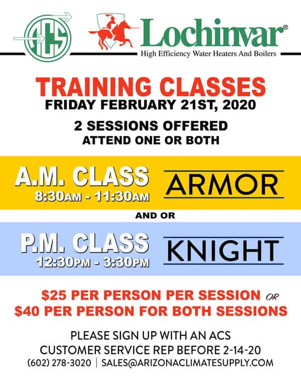 Lochinvar Training Classes - February 21st 2020