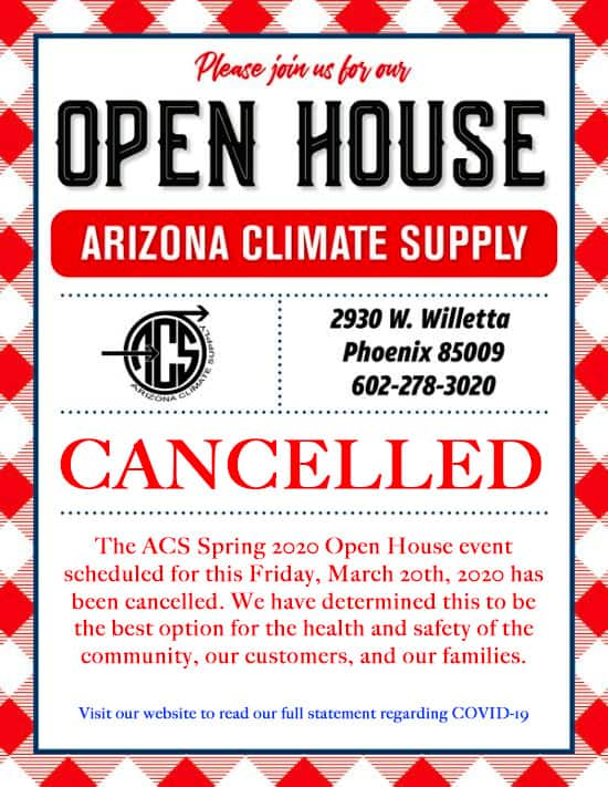 ACS 2020 Spring OpenHouse - Cancelled