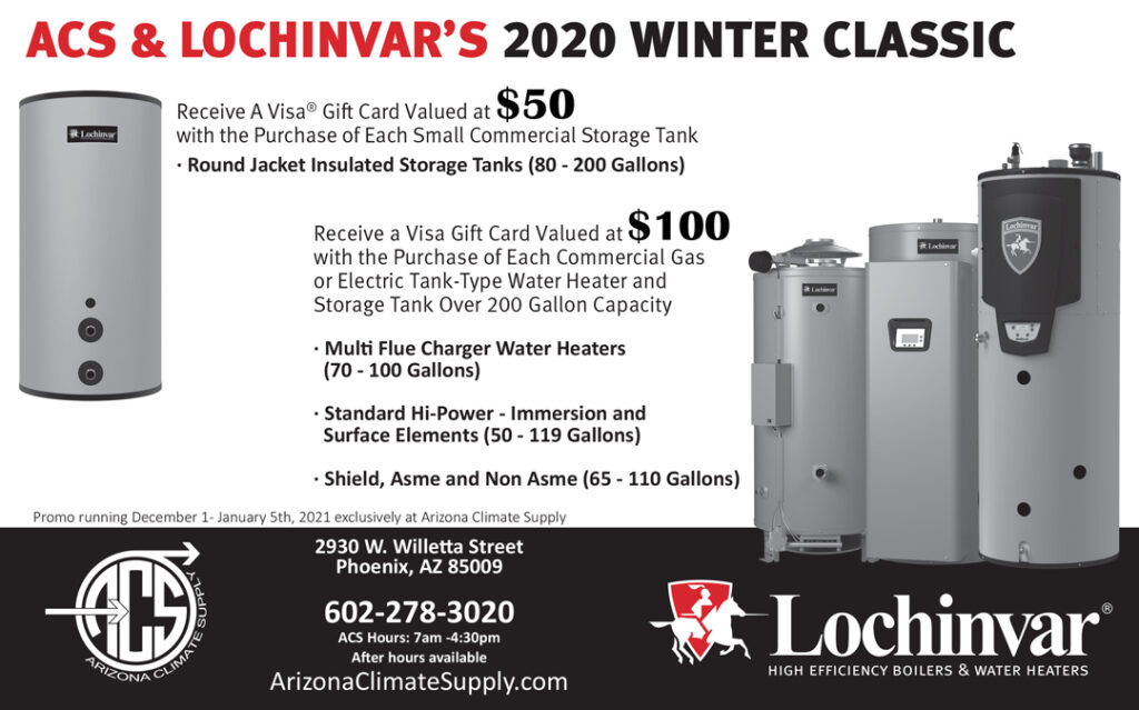 The ACS & Lochinvar 2020 Winter Classic Deals are Here!